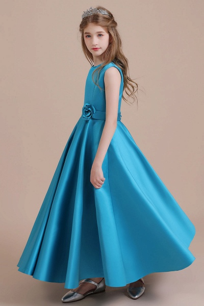 Awesome Satin A-line Flower Girl Dress_6