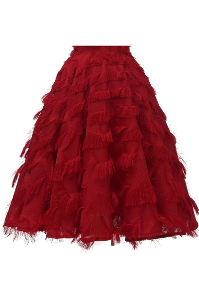 Sexy off-the-shoulder Artifical Feather Princess Vintage Homecoming Dresses | Womens Retro A-line Pink Cocktail Dress_15