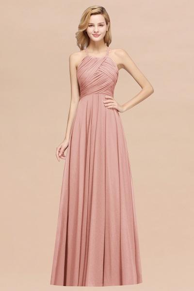 A-Line Chiffon Halter Ruffles Floor-Length Bridesmaid Dress_50
