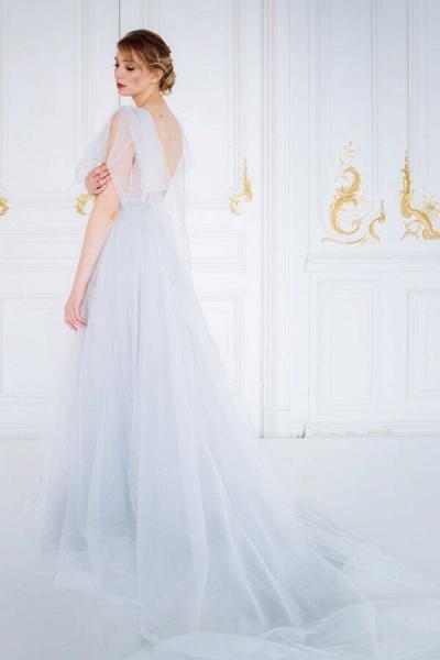 Amazing Tulle Chapel Train Wedding Dress_3