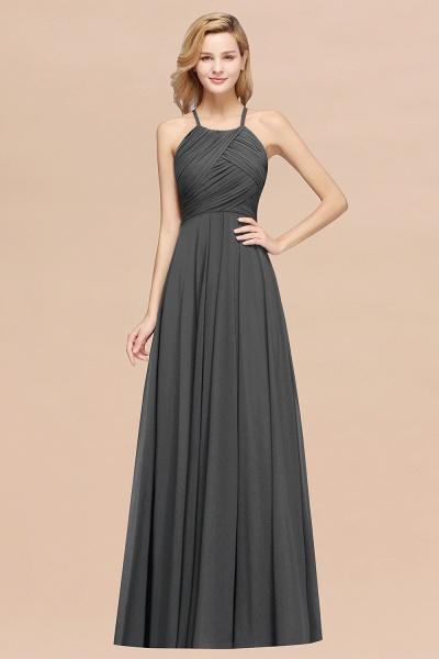 A-Line Chiffon Halter Ruffles Floor-Length Bridesmaid Dress_46