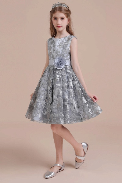 Chic Bow A-line Tulle Flower Girl Dress_7