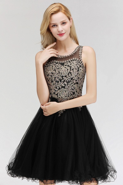 Fabulous Jewel Tulle A-line Evening Dress_12