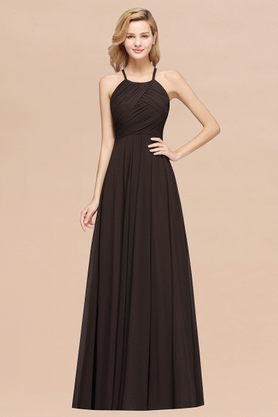 A-Line Chiffon Halter Ruffles Floor-Length Bridesmaid Dress_11
