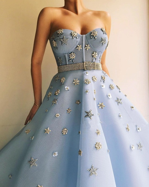 Eye-catching Sweetheart Tulle A-line Prom Dress_3