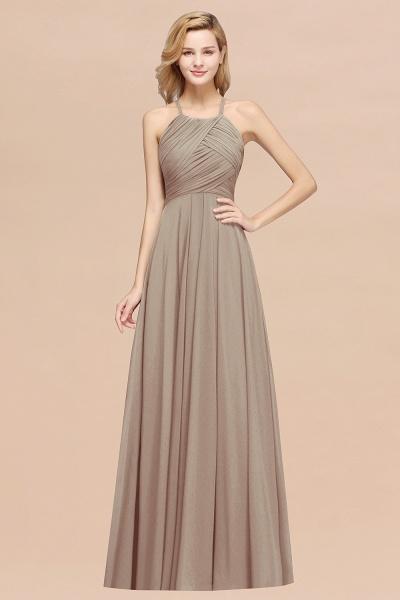 A-Line Chiffon Halter Ruffles Floor-Length Bridesmaid Dress_16