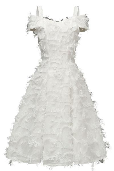 Artificial Fur Cap Sleeve Princess Short Homecoming Dress   A-line Burgundy Cocktail Dresses_1