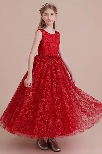 Elegant A-line Ankle Length Tulle Flower Girl Dress_6