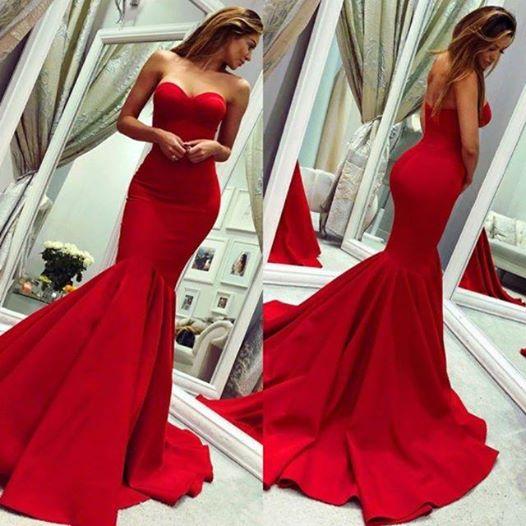 Chic Sweetheart Satin Mermaid Prom Dress_3