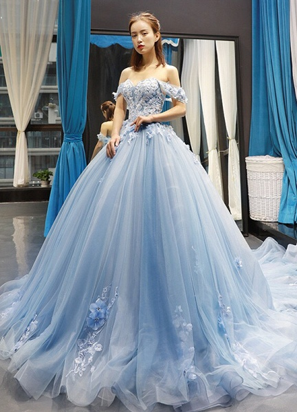 Glorious Sweetheart Tulle A-line Prom Dress_1