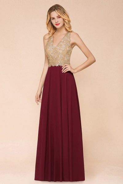 Awesome V-neck Chiffon Evening Dress_2