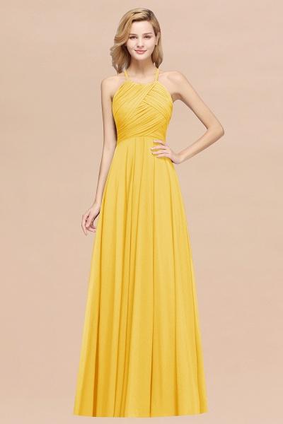 A-Line Chiffon Halter Ruffles Floor-Length Bridesmaid Dress_17