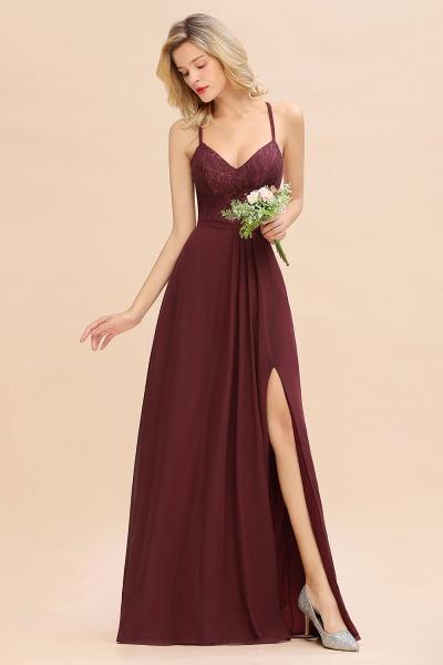 BM0753 Lace Spaghetti Straps A-Line Bridesmaid Dress_3