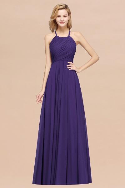 A-Line Chiffon Halter Ruffles Floor-Length Bridesmaid Dress_19