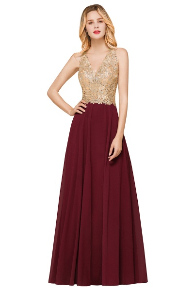 Awesome V-neck Chiffon Evening Dress_10