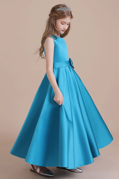 Awesome Satin A-line Flower Girl Dress_4