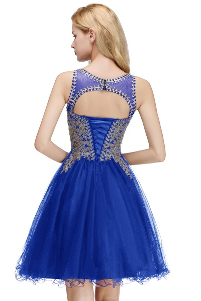Fabulous Jewel Tulle A-line Evening Dress_5