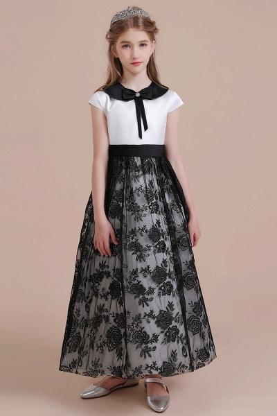 Cute Lace Cap Sleeve A-line Flower Girl Dress_1