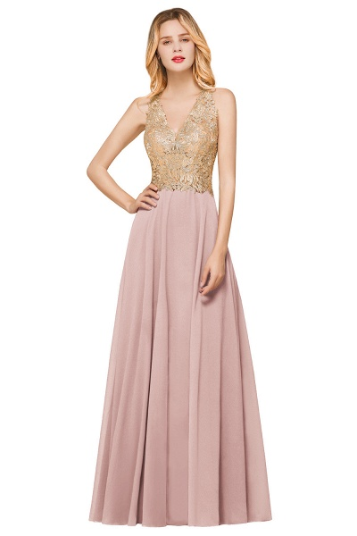 Awesome V-neck Chiffon Evening Dress_1