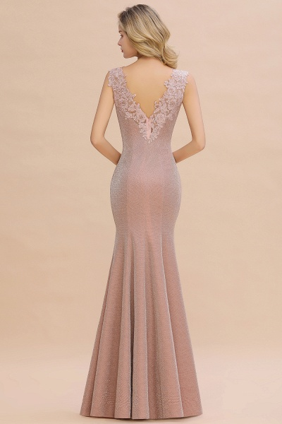 Fascinating V-neck Lace Mermaid Evening Dress_17
