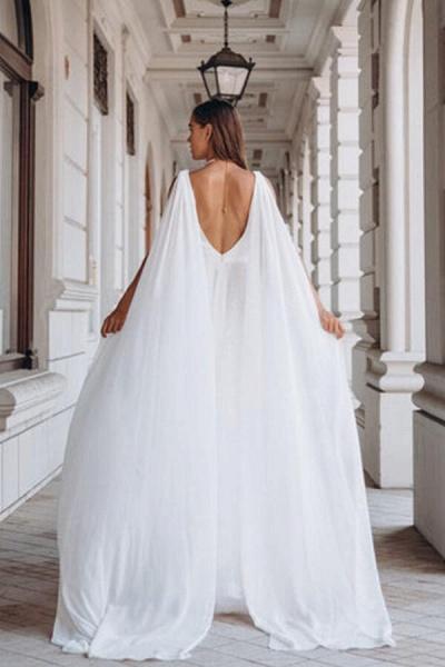 Elegant Sequins Chiffon Tulle A-line Wedding Dress_3