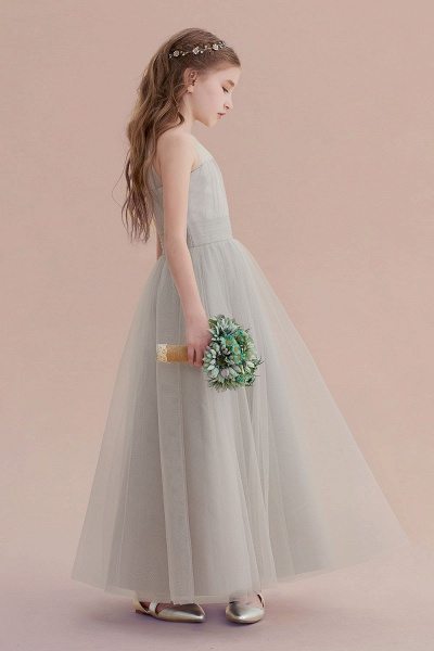 Chic Ankle Length Tulle Flower Girl Dress_8