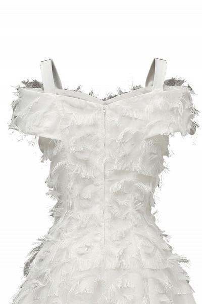 Artificial Fur Cap Sleeve Princess Short Homecoming Dress   A-line Burgundy Cocktail Dresses_20