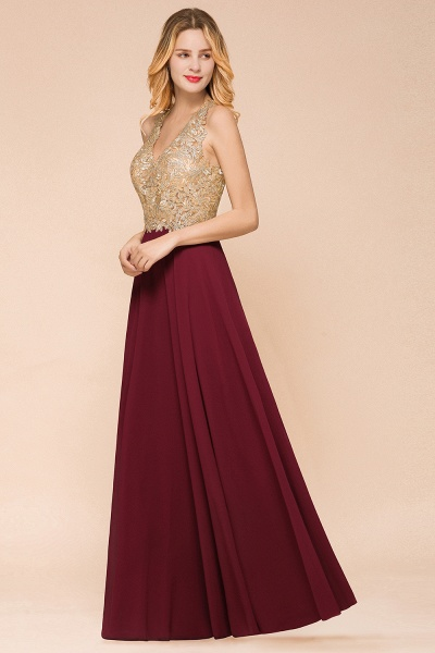 Awesome V-neck Chiffon Evening Dress_15