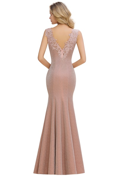 Fascinating V-neck Lace Mermaid Evening Dress_8