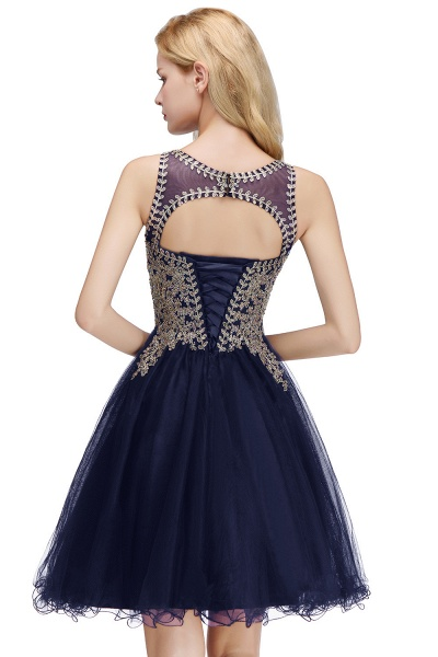 Fabulous Jewel Tulle A-line Evening Dress_23