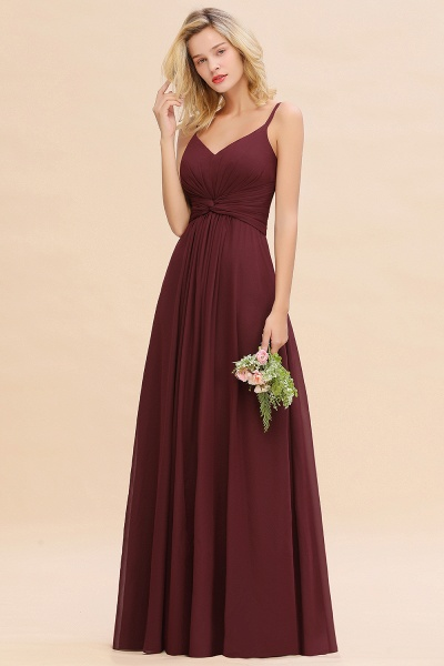 BM0762 Elegant A-line Ruffles Spaghetti Straps Bridesmaid Dress_53