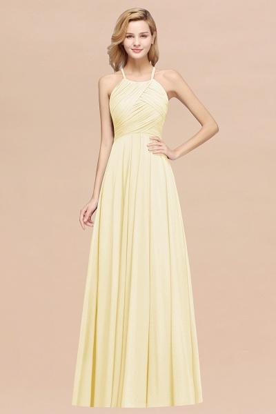 A-Line Chiffon Halter Ruffles Floor-Length Bridesmaid Dress_18