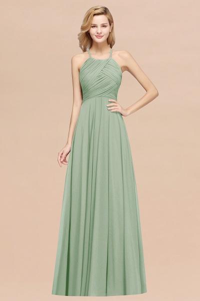 A-Line Chiffon Halter Ruffles Floor-Length Bridesmaid Dress_41