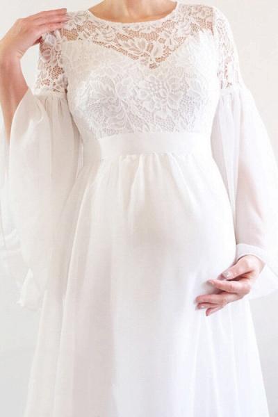 Best Long Sleeve Lace Chiffon Wedding Dress_5