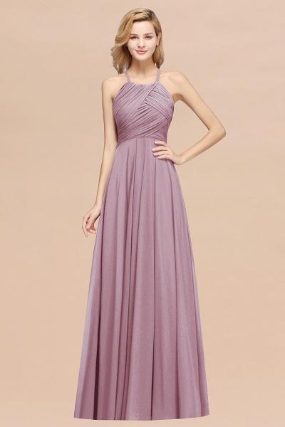 A-Line Chiffon Halter Ruffles Floor-Length Bridesmaid Dress_43