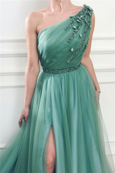 Fabulous One Shoulder Tulle A-line Prom Dress_2
