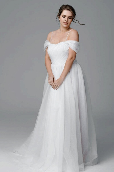 Plus Size Ruffle Tulle A-line Wedding Dress_2