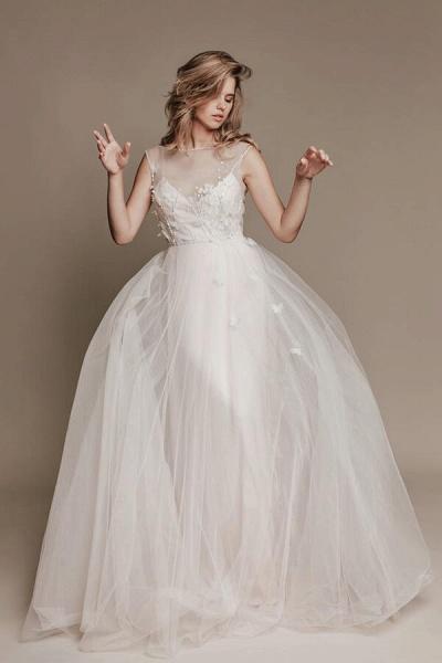 Eye-catching Beading Tulle A-line Wedding Dress_5