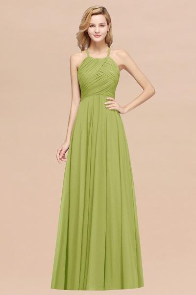 A-Line Chiffon Halter Ruffles Floor-Length Bridesmaid Dress_34