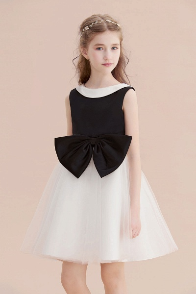 Affordable Bow Tulle A-line Flower Girl Dress_7