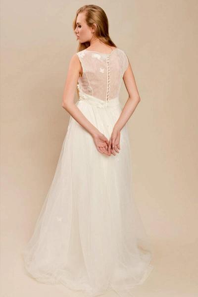 Eye-catching Beading Tulle A-line Wedding Dress_3