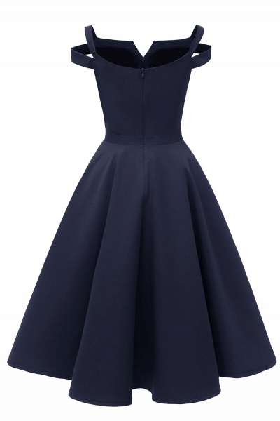 Sexy Cap Sleeves Princess Vintage Dresses with Straps | Womens Retro V-neck Emerald Cocktail Dress_22