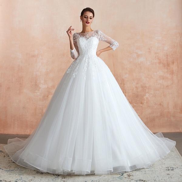 Wonderful Appliques Tulle A-line Wedding Dress_7