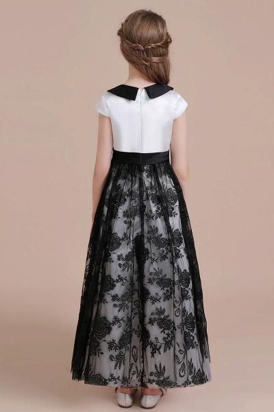 Cute Lace Cap Sleeve A-line Flower Girl Dress_3