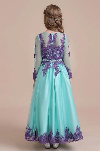 Chic Long Sleeve Appliques A-line Flower Girl Dress_3