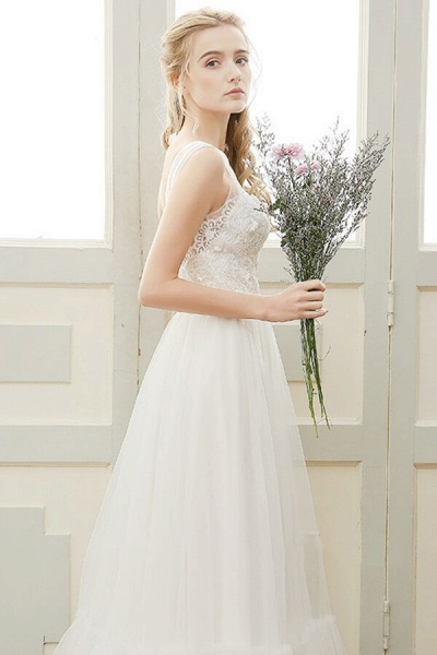 Affordable A-line Tulle Wedding Dress_4