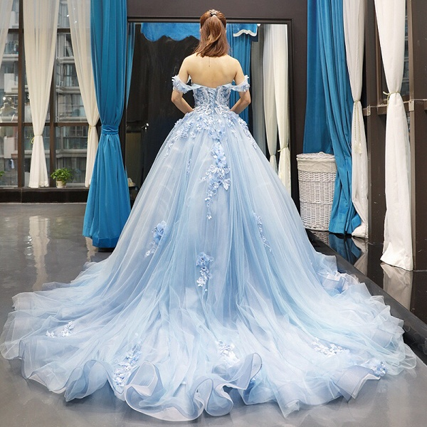Glorious Sweetheart Tulle A-line Prom Dress_3