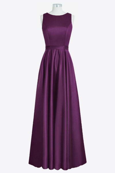 Graceful Back Cut-out Satin A-line Bridesmaid Dress