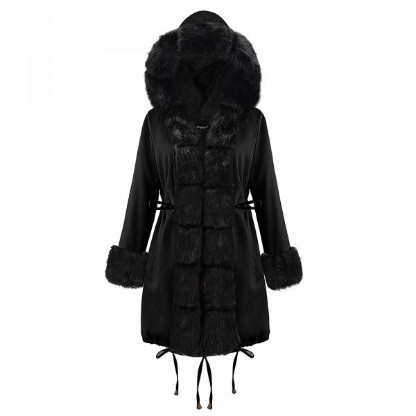 Winter Faux Fur-trimmed Long-length Overcoat_28