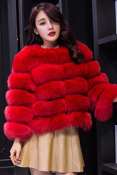 Women's Daily Party Long Faux Fur Coats_3